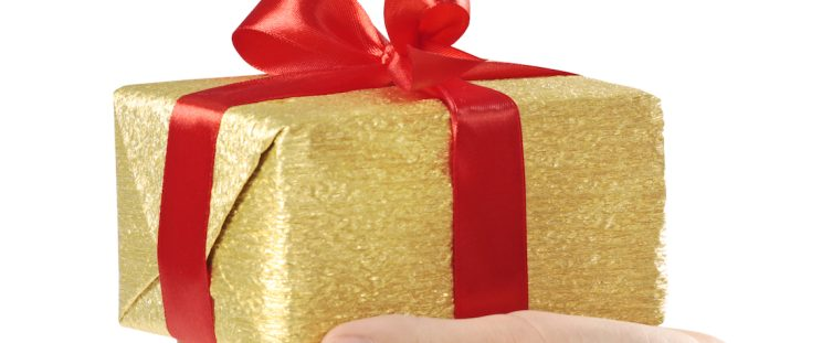 Gold Christmas Gift Box Banner by APT Medical Aesthetics