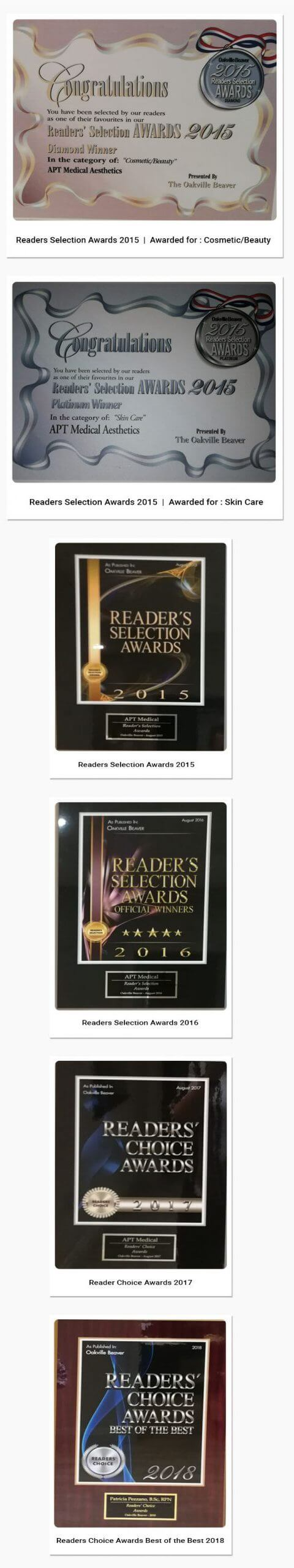AWARDS & ACCOLADES - APT Medical Aesthetics