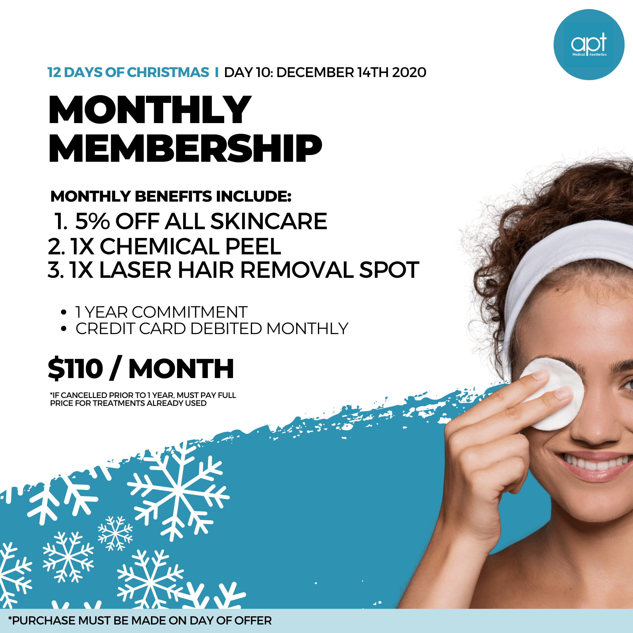 Monthly promotion Flyer Day 10 - APT Medical Aesthetics