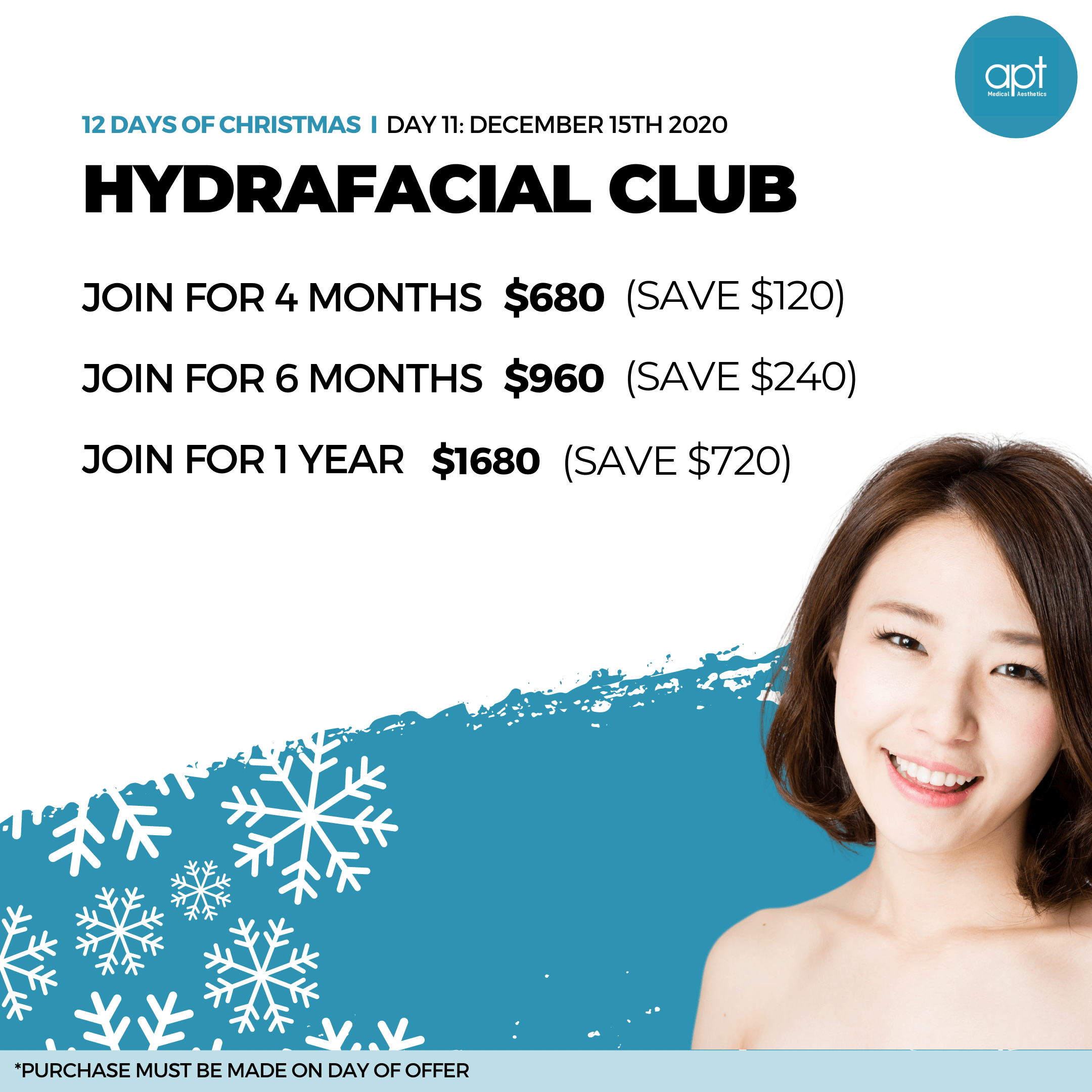Monthly promotion Flyer Day 11 - APT Medical Aesthetics