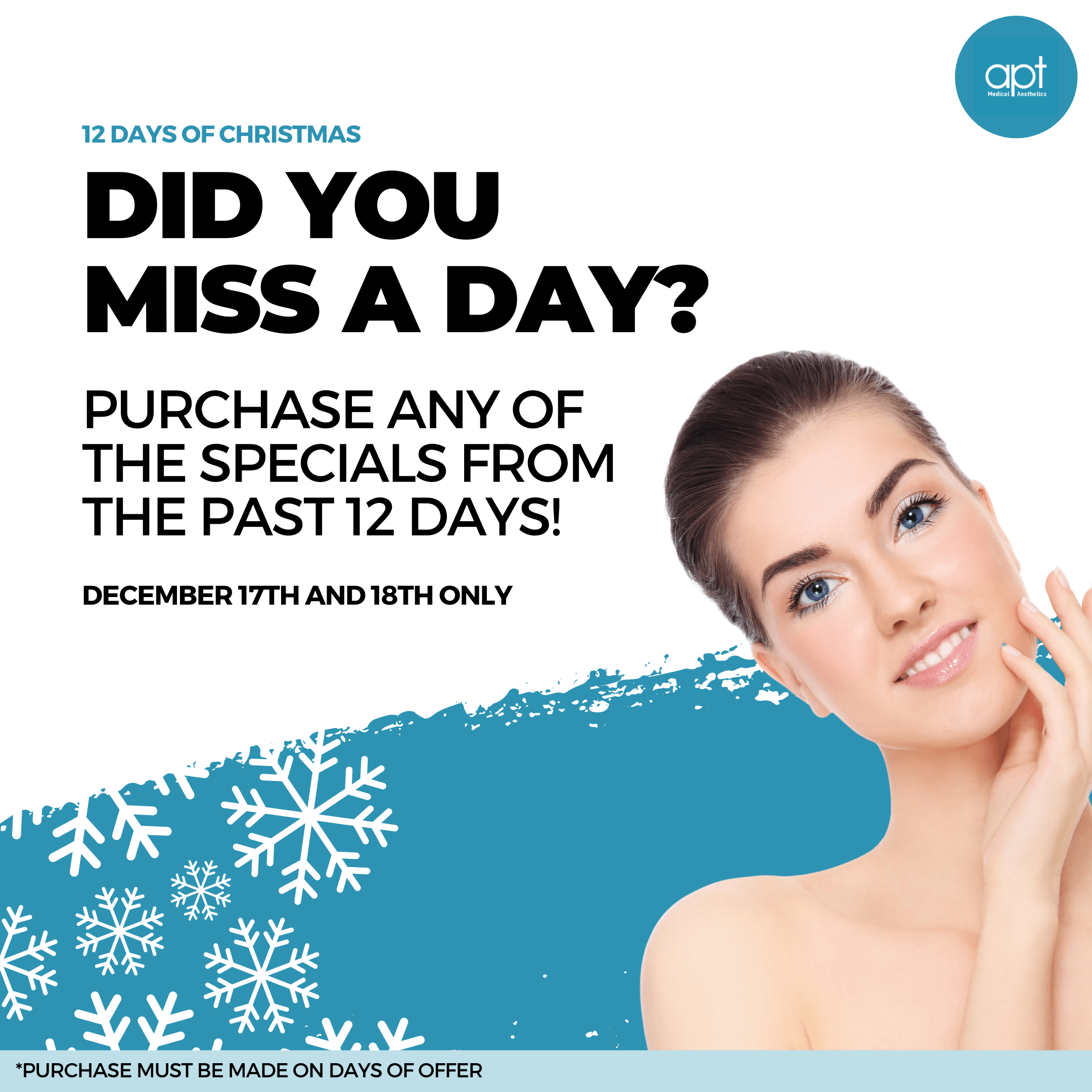 Monthly promotion Flyer Day 13 - APT Medical Aesthetics